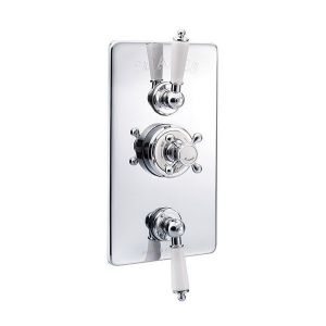 St James Concealed Classical Thermostatic Shower Valve with Integral Flow Valves - SJ7751-LL